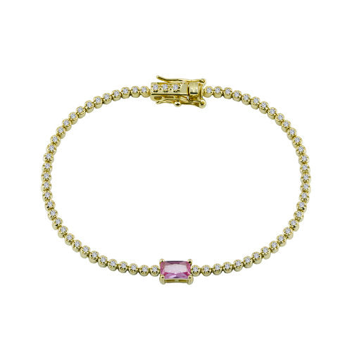 THE COLORED STONE TENNIS BRACELET