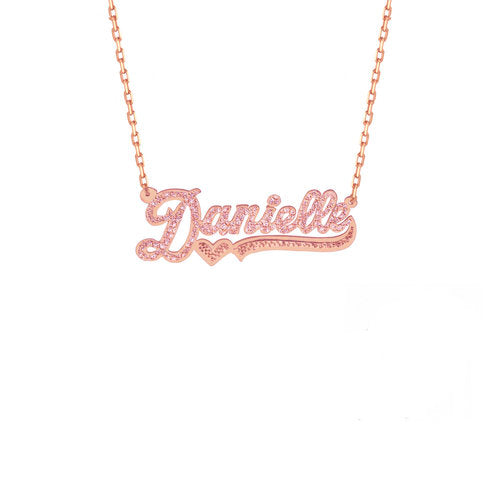 THE CUT TONE NAMEPLATE NECKLACE