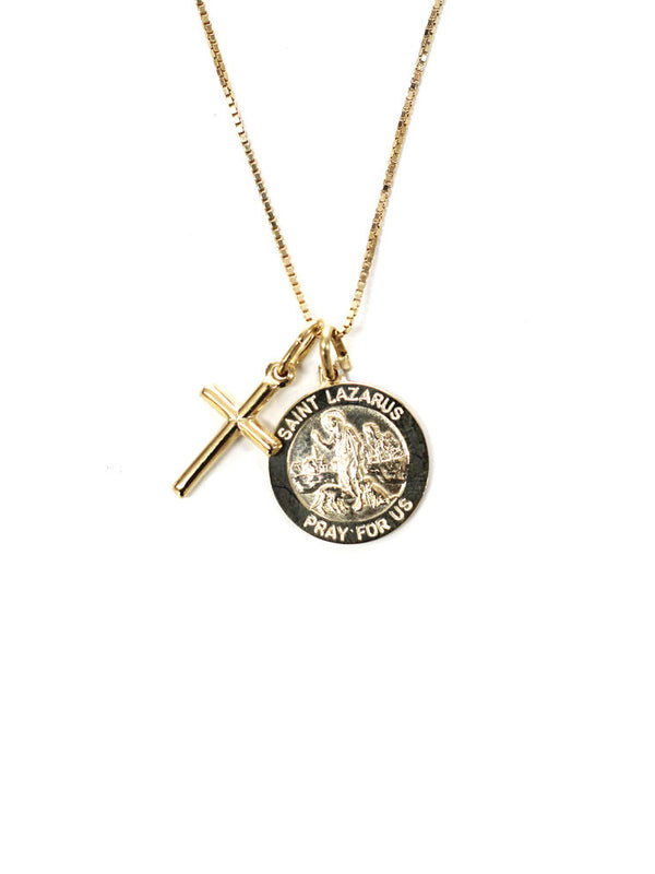 THE SAINT LAZARUS CROSS NECKLACE