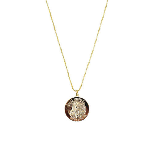 THE SAINT MICHAEL SINGLE MEDAL NECKLACE (MENS)