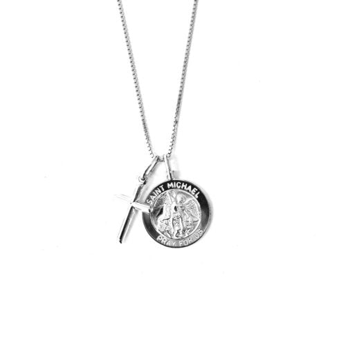 THE SAINT MICHAEL CROSS NECKLACE