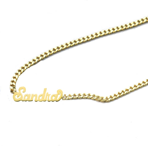 THE SCRIPT MINI CHOKER NAMEPLATE NECKLACE