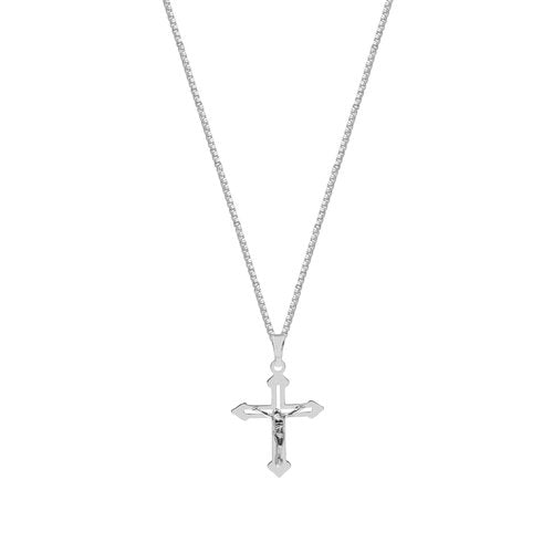 THE POINTED EDGE CRUCIFIX NECKLACE