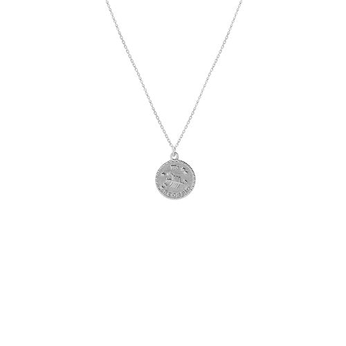 THE ZODIAC MEDAL INITIAL NECKLACE