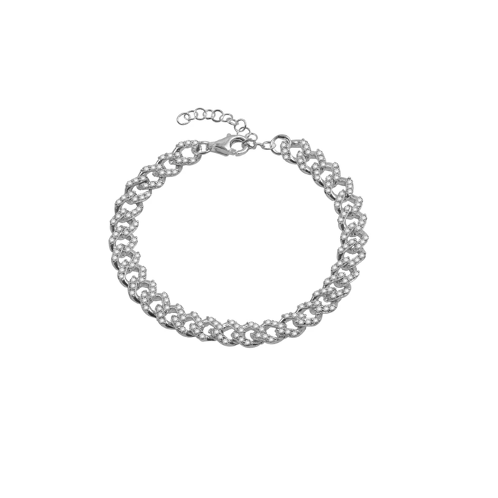 THE PAVE' CURB LINK BRACELET (CHAPTER II BY GREG YÜNA X THE M JEWELERS)