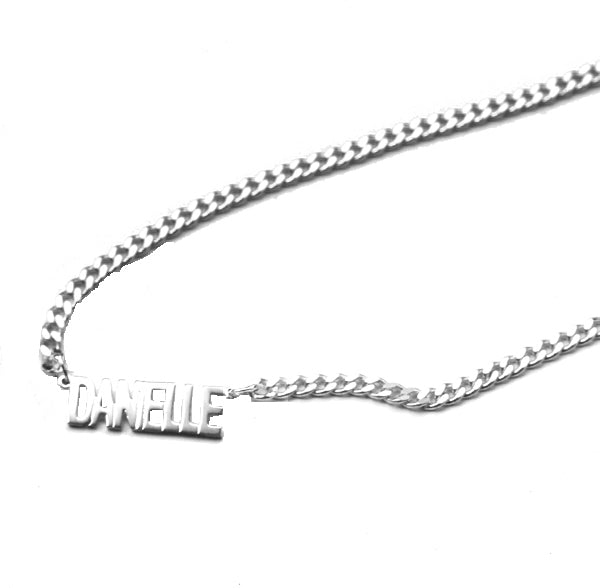 THE MINI NAMEPLATE NECKLACE (MENS)