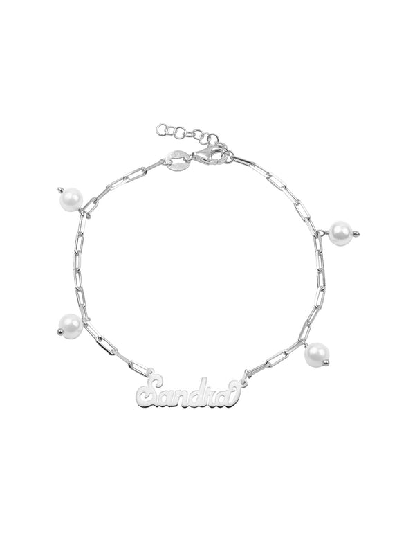 THE PEARL REDA NAME BRACELET