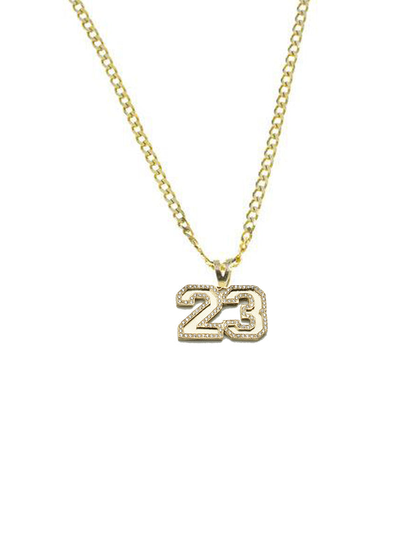 THE SMALL OUTLINE VARSITY PENDANT NECKLACE