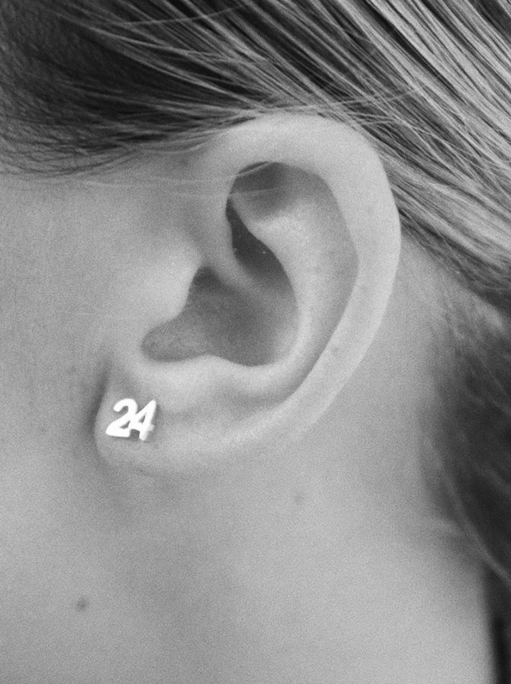THE NUMBER STUD EARRING