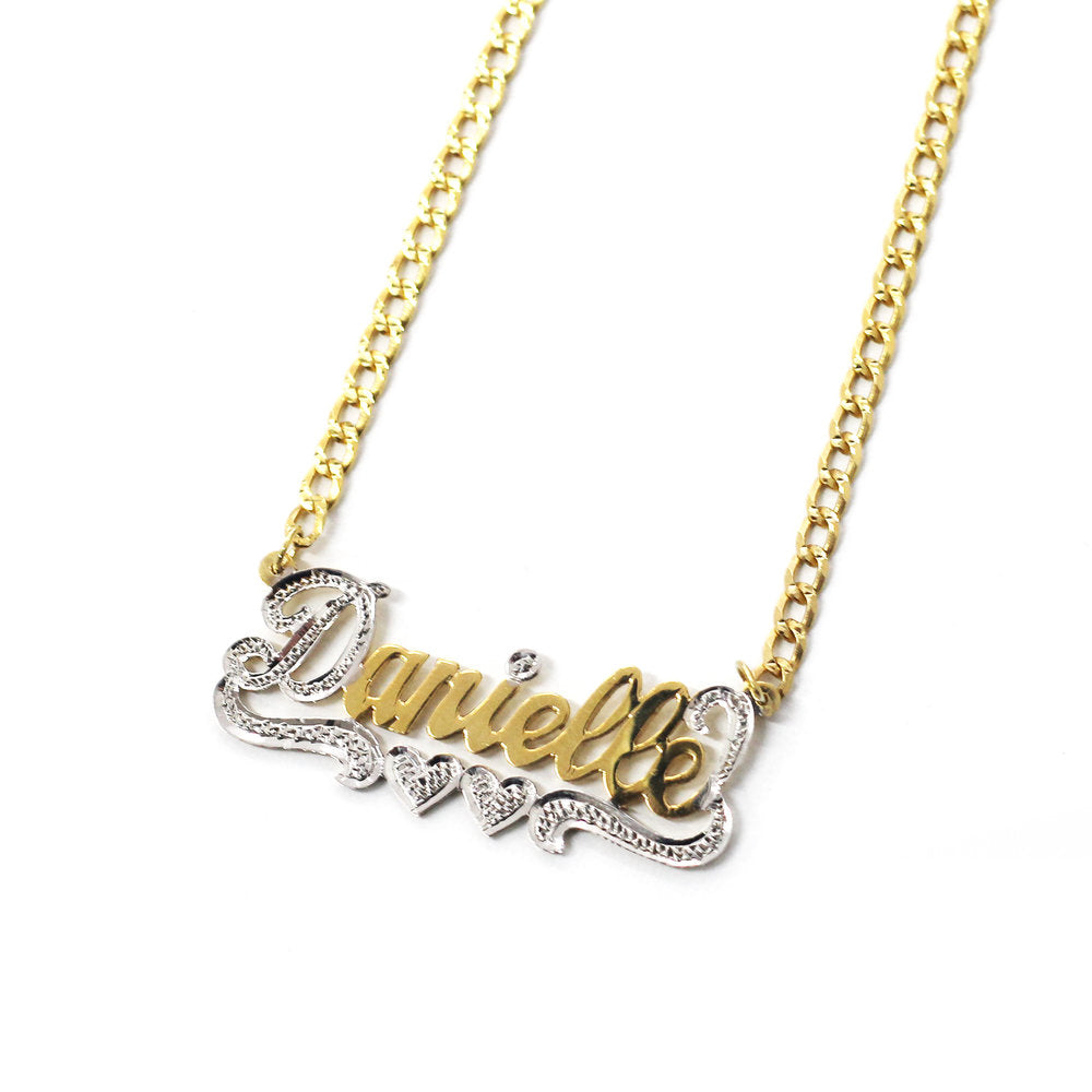 THE CUT NAMEPLATE NECKLACE