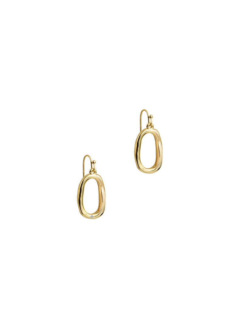 THE ONE STONE MILA HOOPS (SMALL)