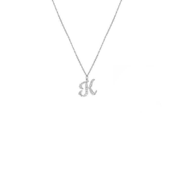 THE SIGNATURE SCRIPT PENDANT NECKLACE