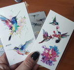 Watercolor HummingBirds Temporary Tatoos Watercolor HummingBirds Temporary Tatoos