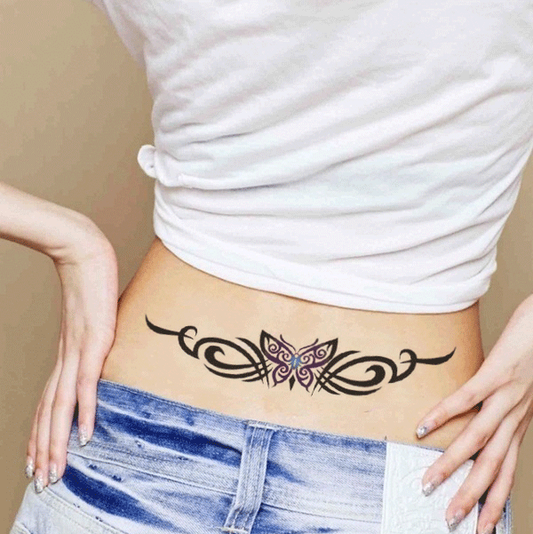 Sexy Tribal Butterfly Temporary Tattoo