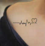 ECG EKG Heartbeat Tattoo ECG EKG Heartbeat Tattoo