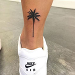Palm Tree Tattoo On Leg
