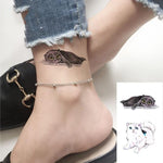 Black & White Double Cat temporary tattoo