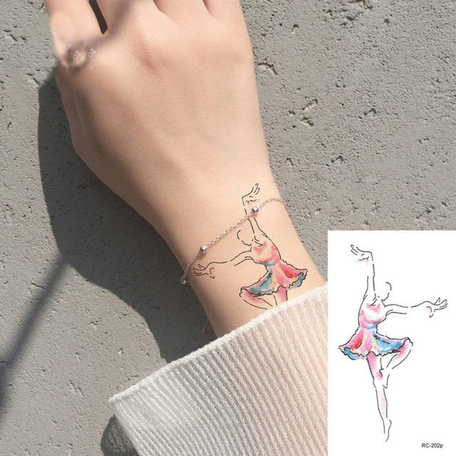 Watercoloer Tiny Dancer Tattoo