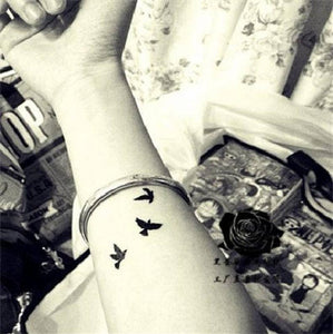 Small Fly Birds Tattoo Small Fly Birds Tattoo