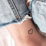 Cute Heart Temporary Tattoo Cute Heart Temporary Tattoo
