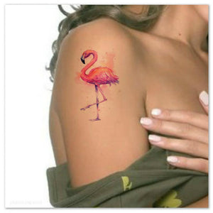 Pink Flamingo Temporary Tattoo Pink Flamingo Temporary Tattoo