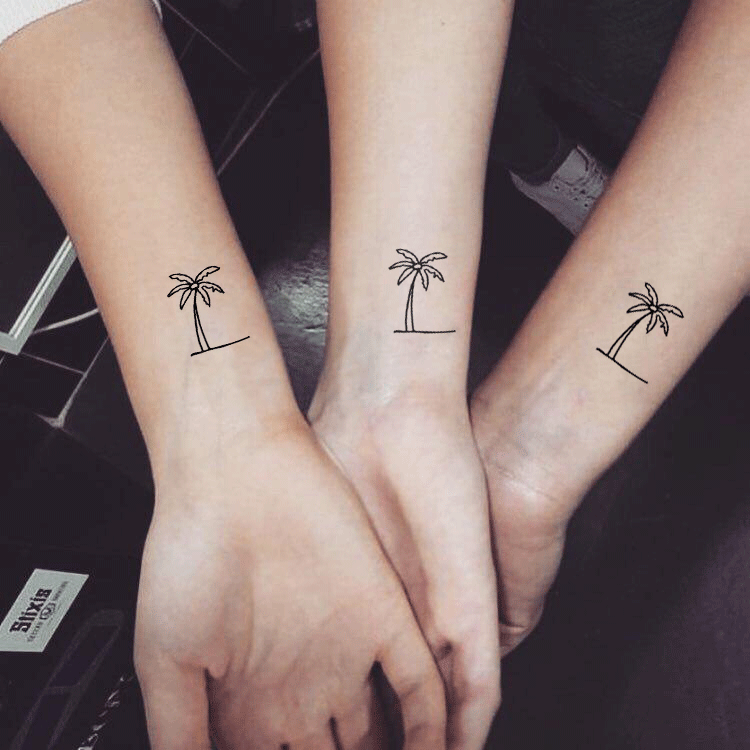 Little Palm Tree tattoo