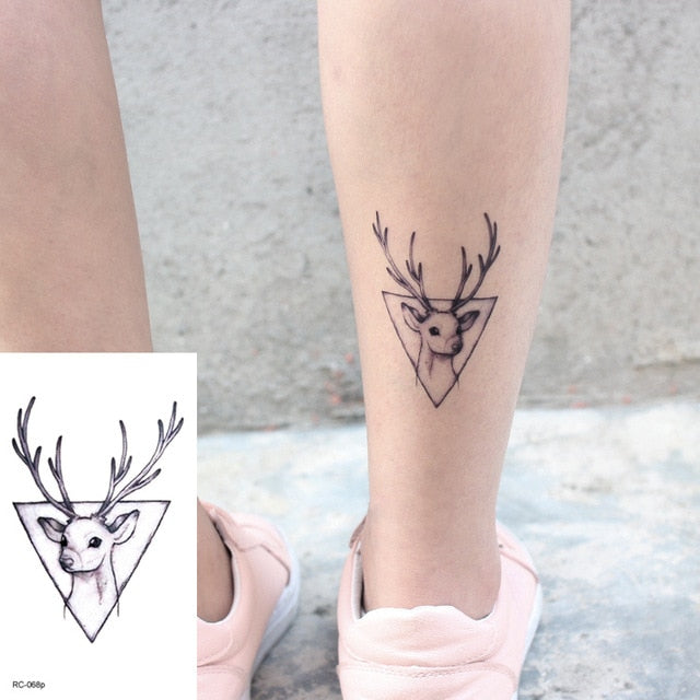 Small Deer Head Tattoo