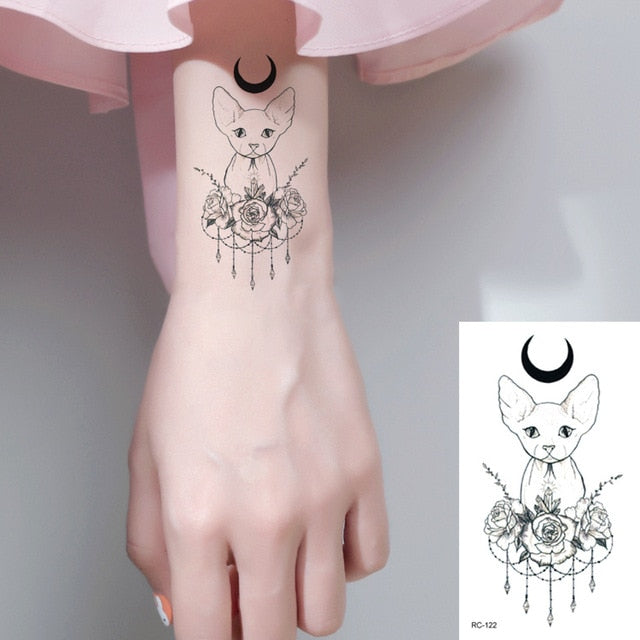 Cat Outline Tattoo