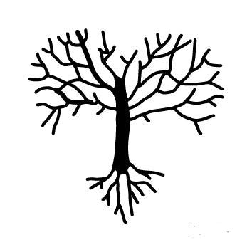 Small simple tree temporary tattoo
