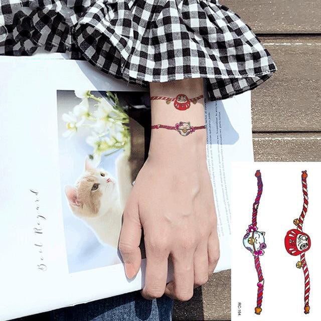 Cartoon Wrist Bracelet Tattoo