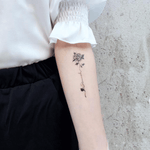 Simple Black Rose Tattoo