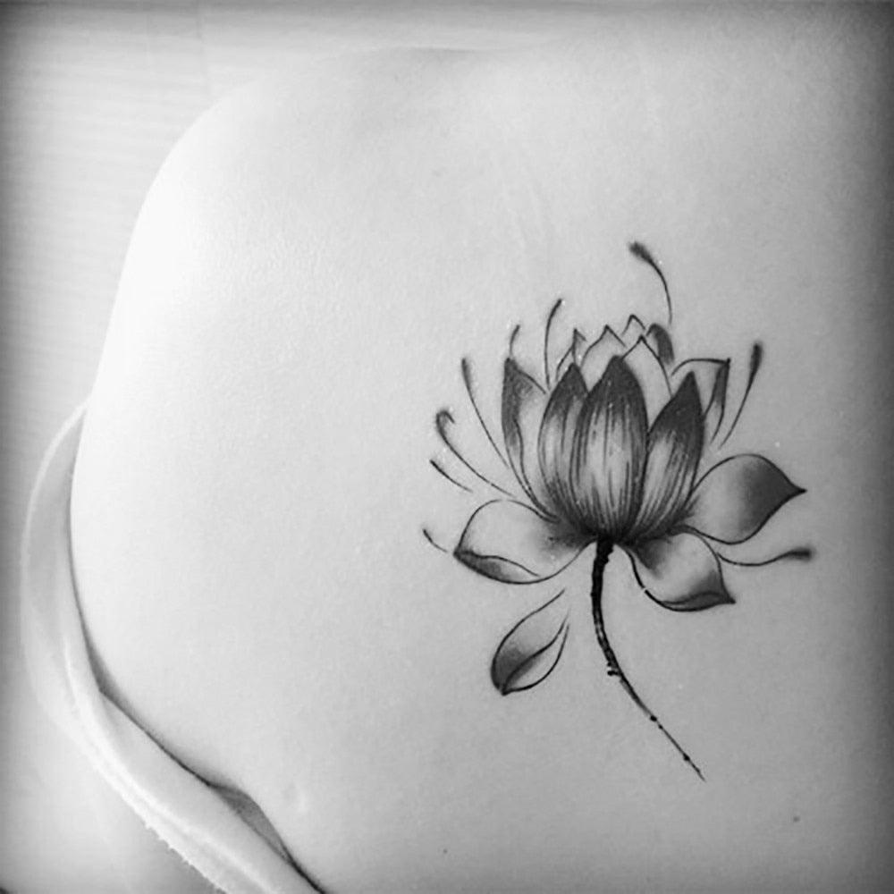 3D Lotus Flower Tattoo 3D Lotus Flower Tattoo