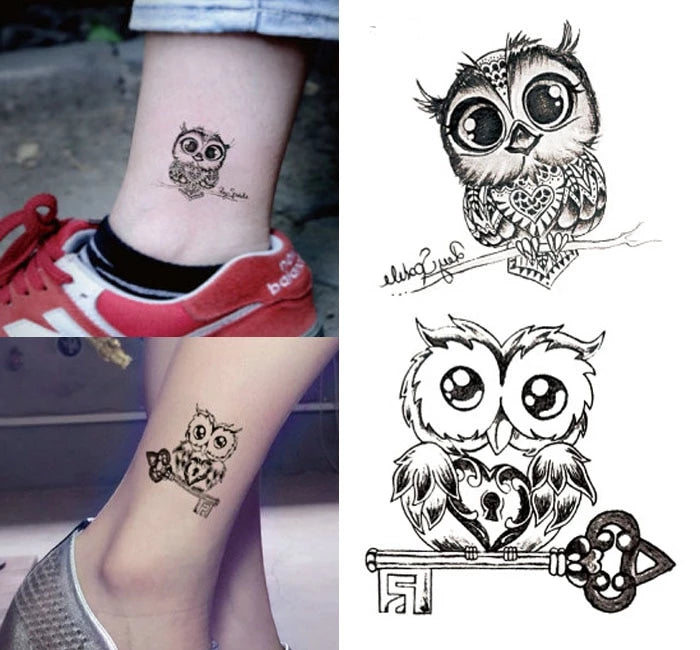 Small Lovely Owl Tattoo Small Lovely Owl Tattoo