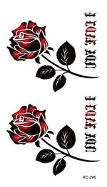 Small Black Rose Tattoo Small Black Rose Tattoo