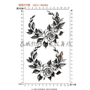 Black Big Vintage Rose Tattoo Black Big Vintage Rose Tattoo