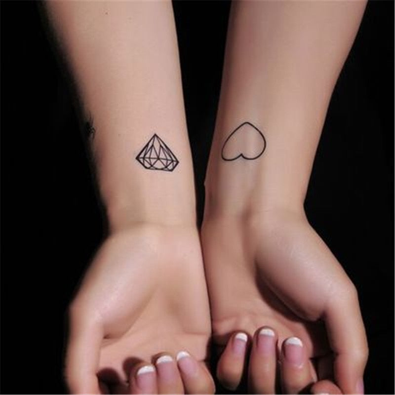 10 Set Loving heart , Diamonds Tattoo 10 Set Loving heart , Diamonds Tattoo