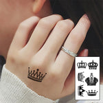 6 Style Black Crown Waterproof Temporary Tattoo 6 Style Black Crown Waterproof Temporary Tattoo