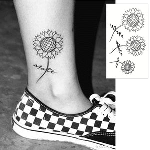 Simple Little Sunflower Tattoo Simple Little Sunflower Tattoo