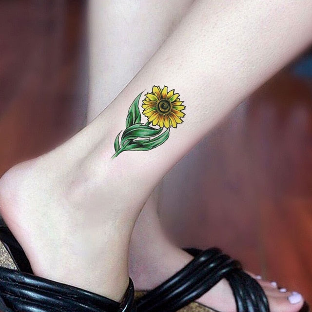 Watercolor Sunflower Tattoo Watercolor Sunflower Tattoo