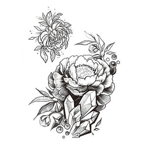 Large Black Roses Flower Tattoo Large Black Roses Flower Tattoo