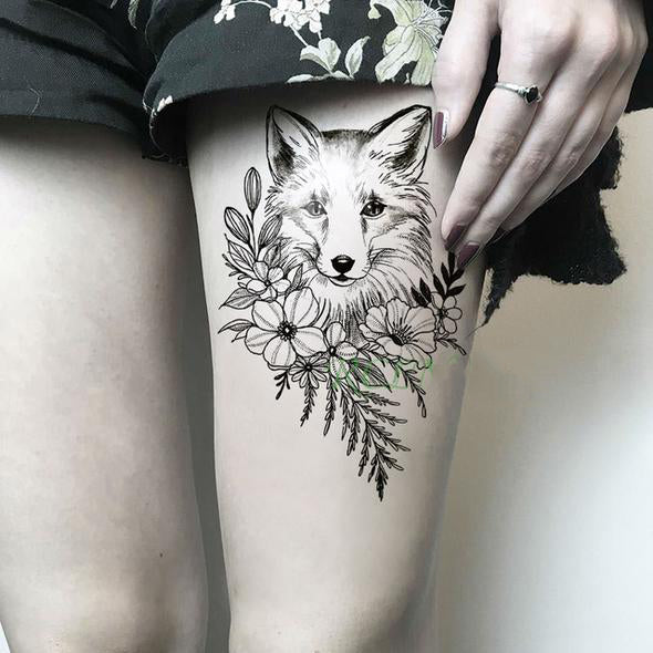 Fox Flower Tattoo Fox Flower Tattoo