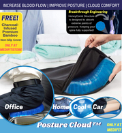 PostureCloud™ Spinal Alignment Comfort Cushion with WaterProof Cover