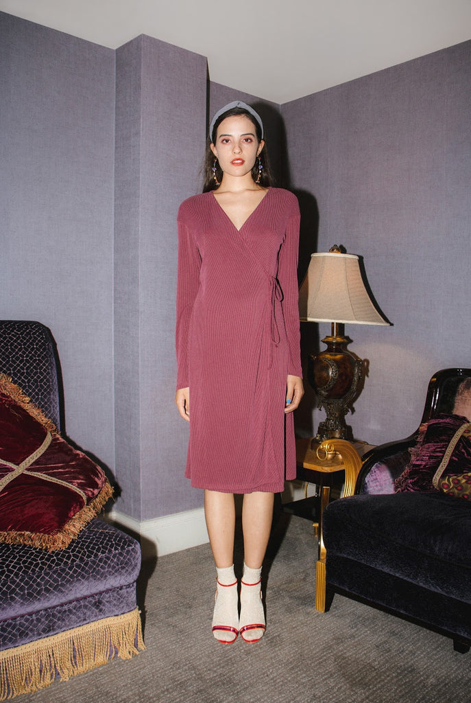 Olivia Wrap Dress - Mauve