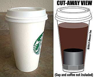 covert coffee in a starbucks cup