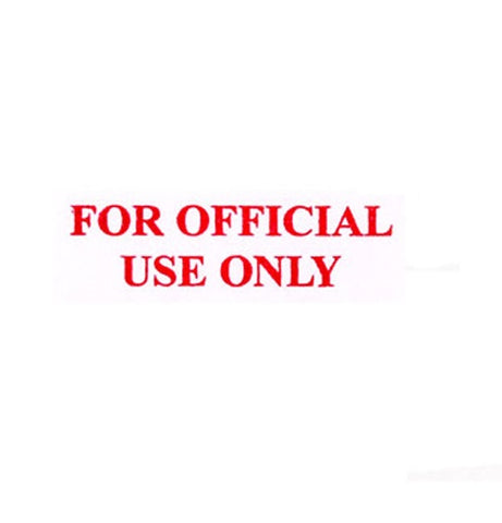 for official use only rubber stamp