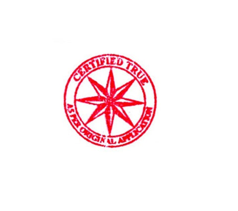 Certified True Compass Rose - Rubber Stamp