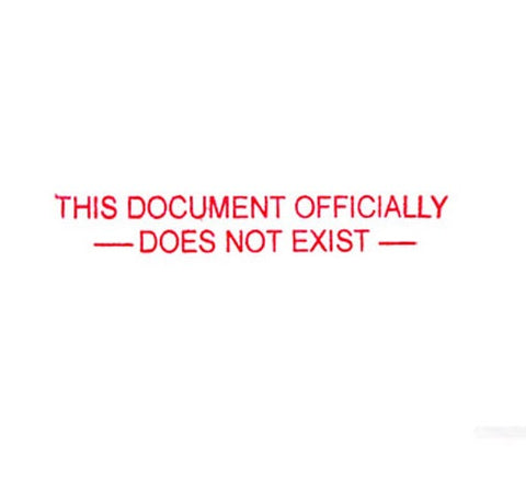 Document Does Not Exist - Rubber Stamp