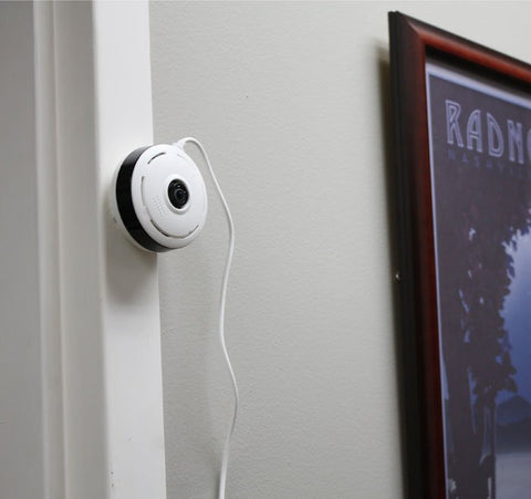 360 wi-fi camera mounted on the wall