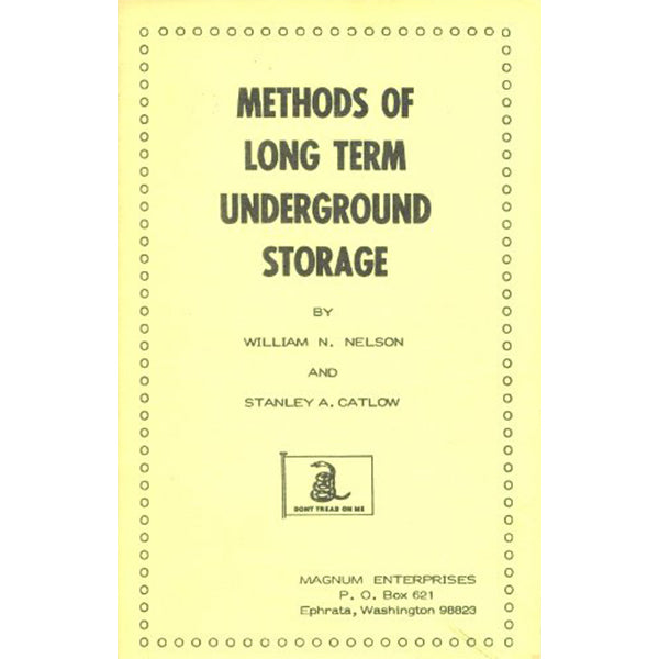 Long Term Underground Storage Book