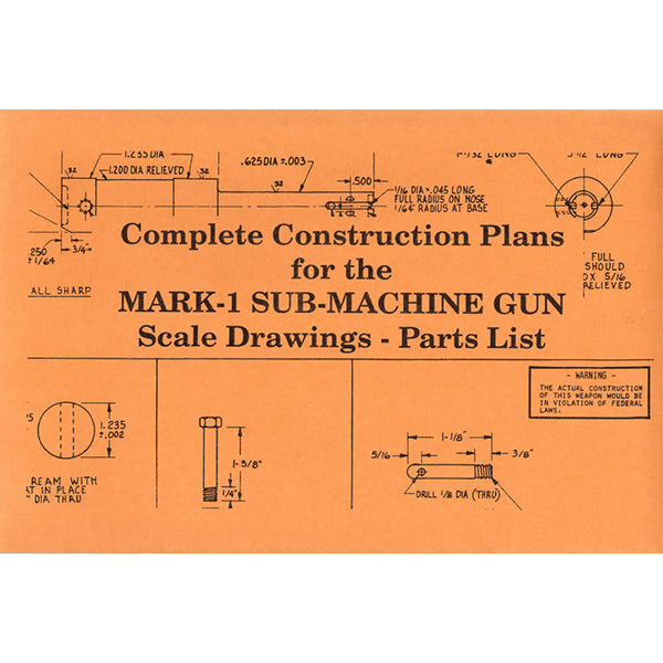 Homemade Submachine Gun Plans Book